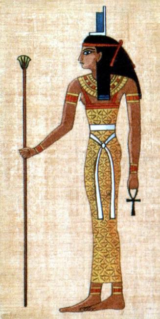 Egipčanska boginja Izida  je obudila svojega mrtvega brata Ozirisa z dihom življenja.