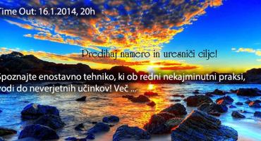 PREDIHAJ NAMERO IN URESNIČI CILJE 16.1., 20h