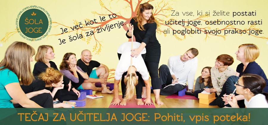 ŠOLA JOGE: Tečaj za učitelja joge