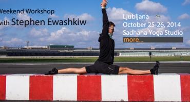 Yoga workshop with Stephen Ewashkiw